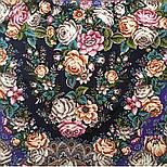 Цветочные бусы 1797-15, павлопосадский платок шерстяной  с шелковой бахромой, фото 5
