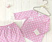 """Комплект распашонка с штанишками """" Горошек на розовом"""", фото 3"""