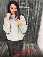 Шикарный женский вязаный свитер под горло,размер 42-46, фото 1