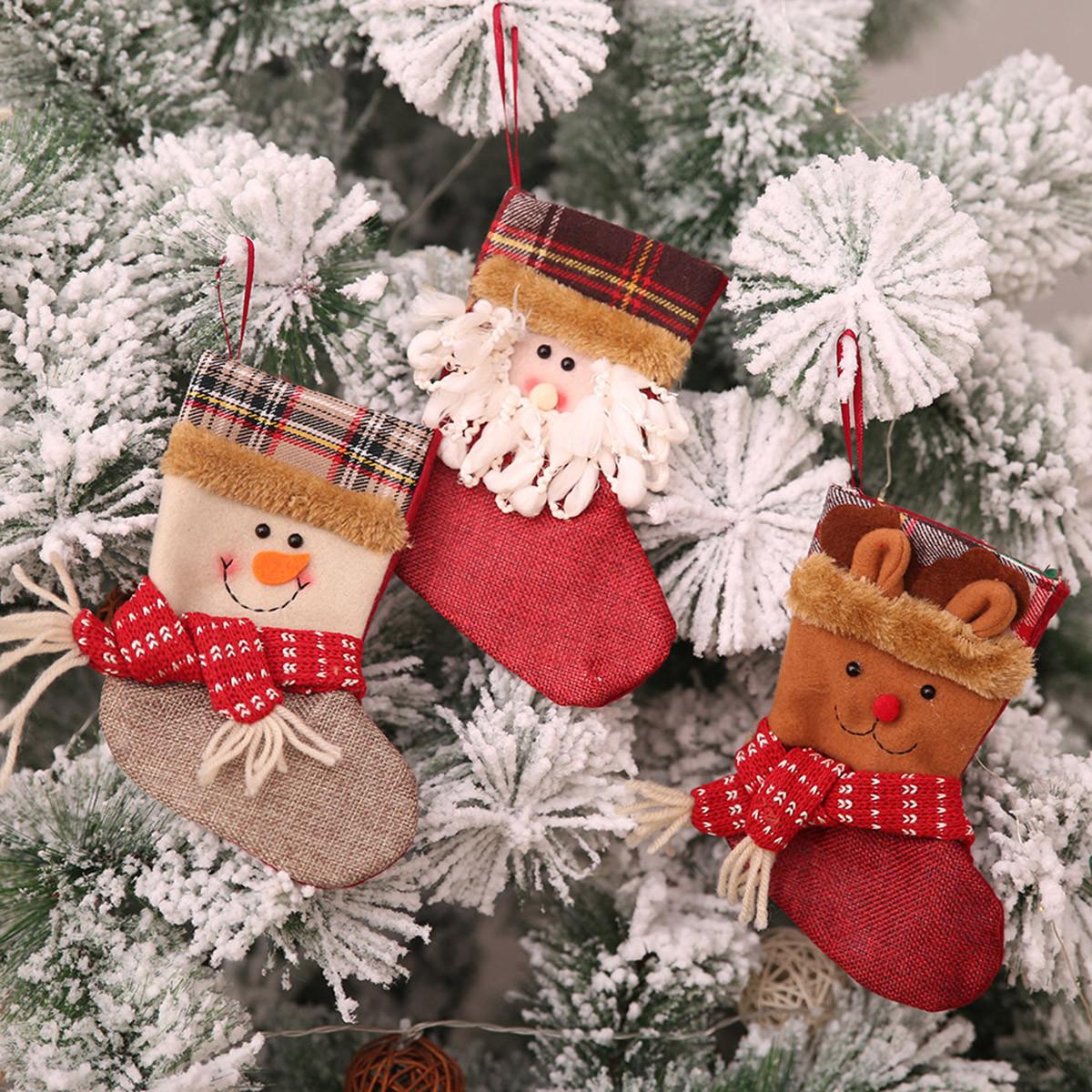 РождественскийчулокМининосокСанта-Клаусаконфеты подарок Сумка Дерево висит декор 1TopShop