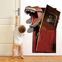 Творческиймультфильм3DдинозавровПВХсломанной стены наклейки DIY Съемный декор Водонепроницаемы Стикеры стены 1TopShop, фото 3