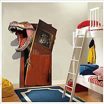 Творческиймультфильм3DдинозавровПВХсломанной стены наклейки DIY Съемный декор Водонепроницаемы Стикеры стены 1TopShop, фото 2