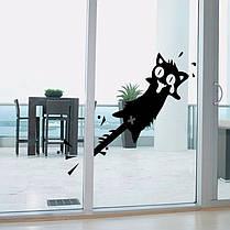 HonanaМультфильмклипнахвостКот стикер стены резные ПВХ для дома двери окна декор декорации 1TopShop, фото 2