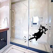 HonanaМультфильмклипнахвостКот стикер стены резные ПВХ для дома двери окна декор декорации 1TopShop, фото 3