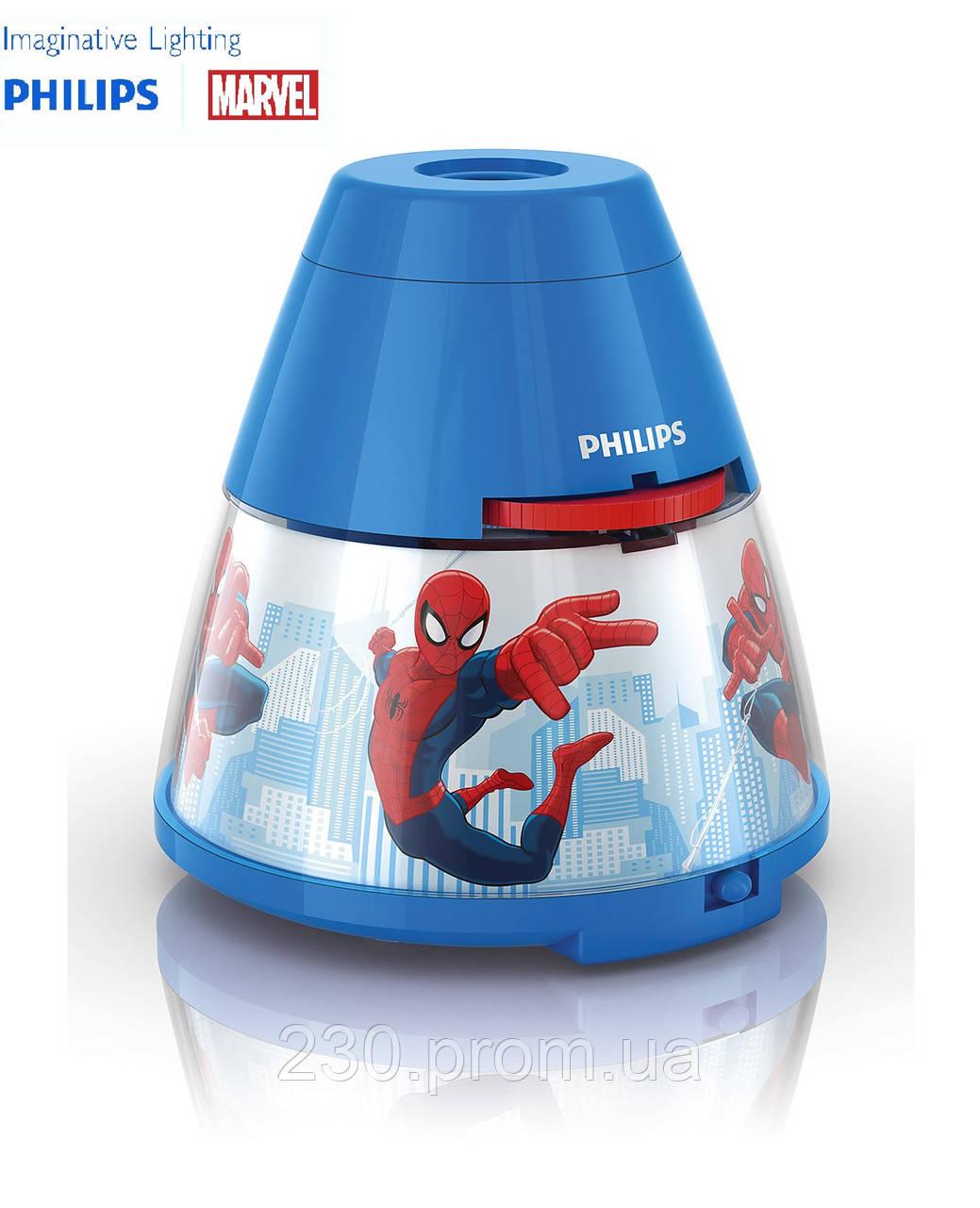 Ночник-проектор 2-в-1 Philips Marvel spiderman