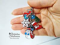 Брелок новогодний Снеговик, фото 1