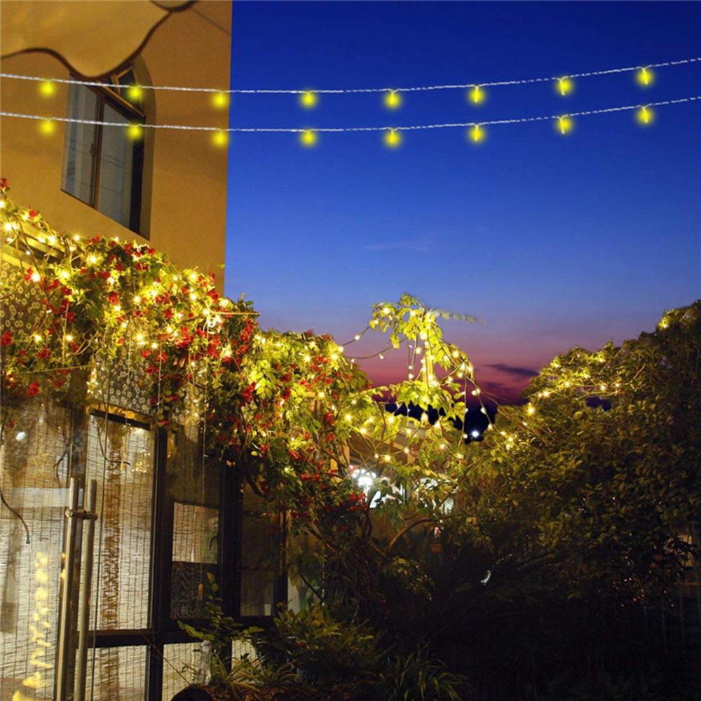 10M Солнечная Powered 8 режимов 100LED String Light Водонепроницаемы Сад На открытом воздухе Новогоднее украшение - 1TopShop