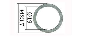 Регулировочные шайбы форсунки Common Rail Bosch 23,7х19 мм. 0,01 мм. 0,88-1,12 мм. 250 шт., фото 2