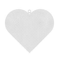 """Пластиковая канва """"Гамма"""" сердце большое,100 % полиэтилен,17х15 см"""