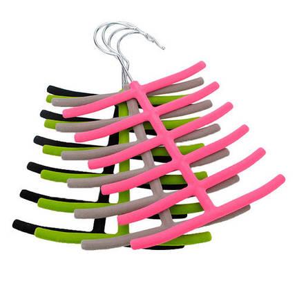 1x шарфы галстук вешалка для одежды шкаф нескользящий держатель 1TopShop, фото 2