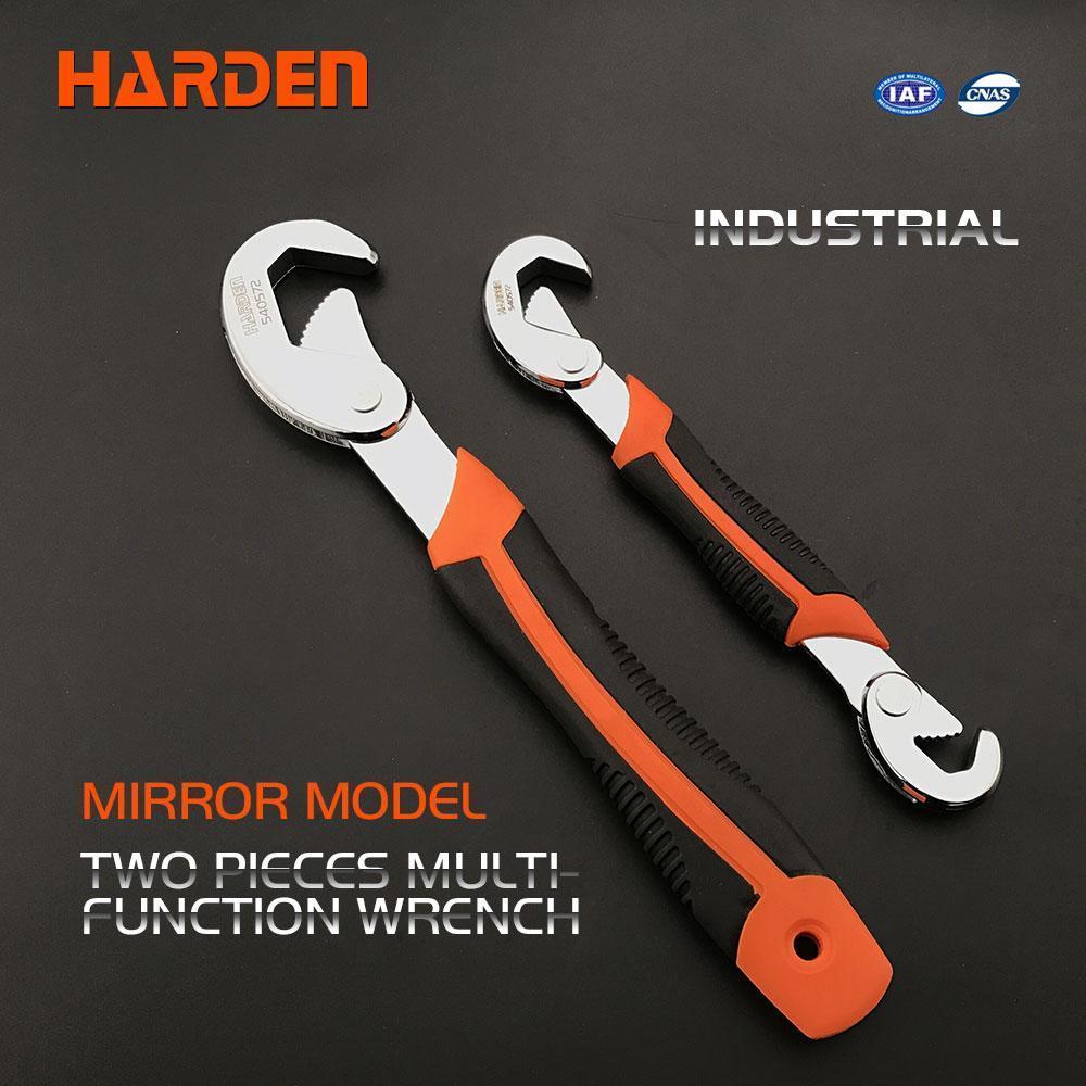 Ключ самозажимной универсальный усиленный, 2-комп. рукоятка, 2 шт. 9-23 мм Harden Tools 540572