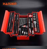 Профессиональный набор инструмента для дома в металлическом кейсе, 77 пр. Harden Tools 510777