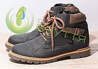 Кожаные мужские ботинки арт 14802 син  размеры 40, 42,45, фото 1