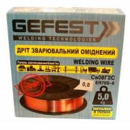 Проволока сварочная GEFEST СВ08Г2С 0.8мм/4.8кг омеднённая