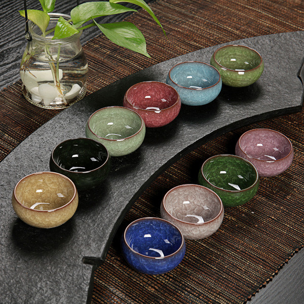 3 цвета кунг-фу чашка льда трещины эмалированной керамической чашки чая 1TopShop