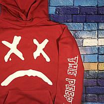 Худи Lil-Peep • Все размеры • Топ качество • Хайповый бренд • красная толстовка, фото 2