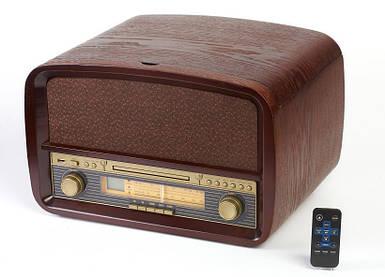 Деревянный Грамофон Проигрыватель CAMRY CR 1112 Радио CD USB + Пульт