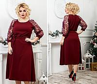 """Платье больших размеров """" Рукава флок """" Dress Code"""