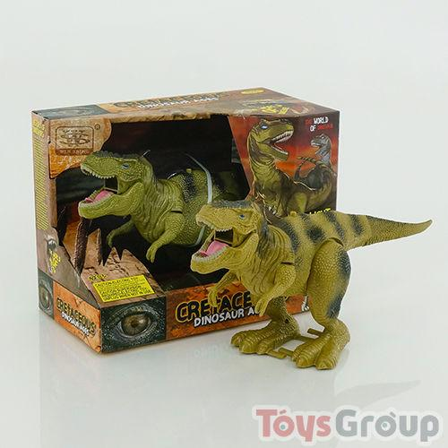 Динозавр WS 5316 (36) 2 вида, ходит, двигается рот, на бат-ке, в кор-ке