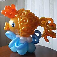 """Композиция из воздушных шариков """"Золотая рыбка"""""""
