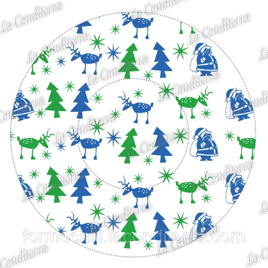 """Формы для конфет """"Новогодний праздник"""" 4с (Ø35, бортик – 12,5 мм), 2000 шт."""