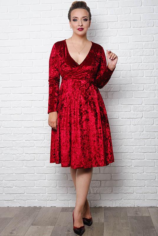 Бордовое нарядное платье  Даниэлла р. 48 - 58