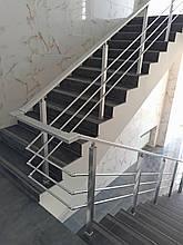 Алюминиевые перила квадратные с леерами
