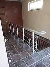 Алюминиевые перила квадратные с леерами, фото 2