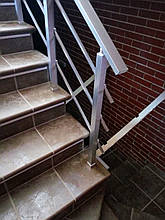 Алюминиевые перила квадратные с леерами, фото 3