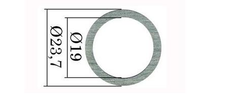 Регулировочные шайбы форсунки Common Rail Bosch 23,7х19 мм. 0,01 мм. 1,10-1,20 мм. 110 шт., фото 2