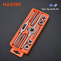 Профессиональный набор метчиков и плашек, 12 предметов Harden Tools 610457