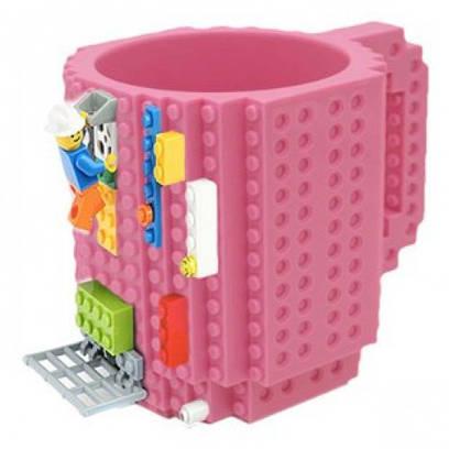 Чашка конструктор Lego - Лего розовая