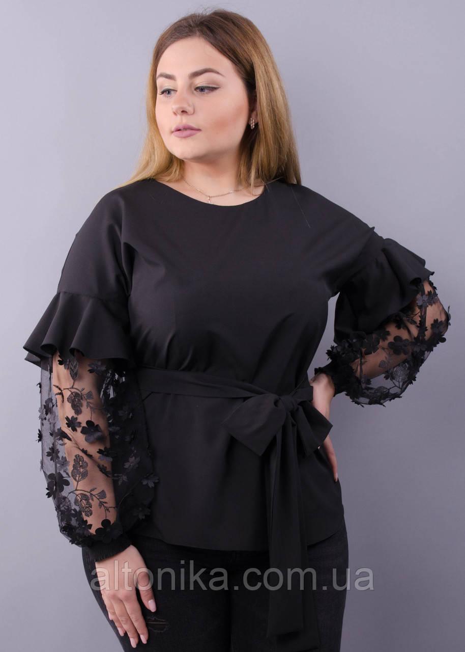 Нарядная женская блузка делового стиля 58-60, 62-64