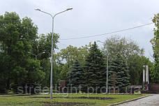 Оцинкованная металлическая опора высотою 9 метров диаметром 260*150 мм, фото 2
