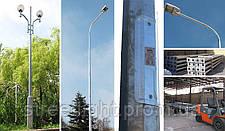 Оцинкованная металлическая опора высотою 9 метров диаметром 260*150 мм, фото 3