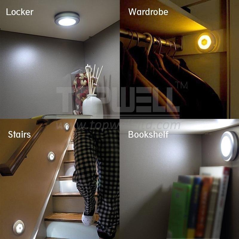 Голосовое управление Touch Sensing Led Round Night Light 1TopShop
