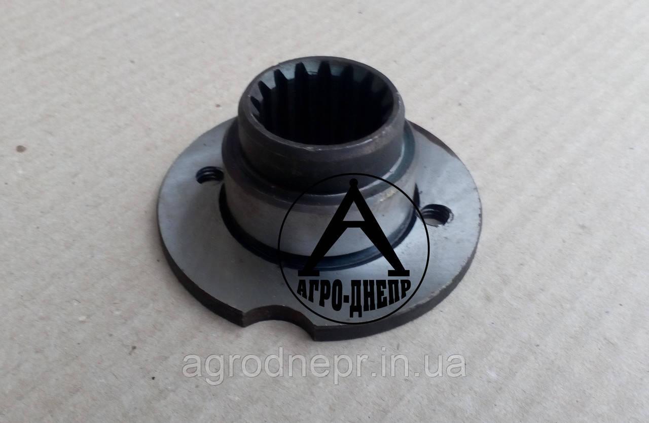 Фланец коленчатого вала ЯМЗ-236Д для установки на трактор ХТЗ 236-1005121 h6 ø90мм