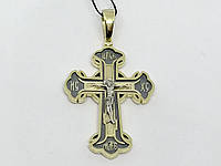 Золотой крестик. Распятие Христа. Артикул 11484-ЧЕВРО, фото 1
