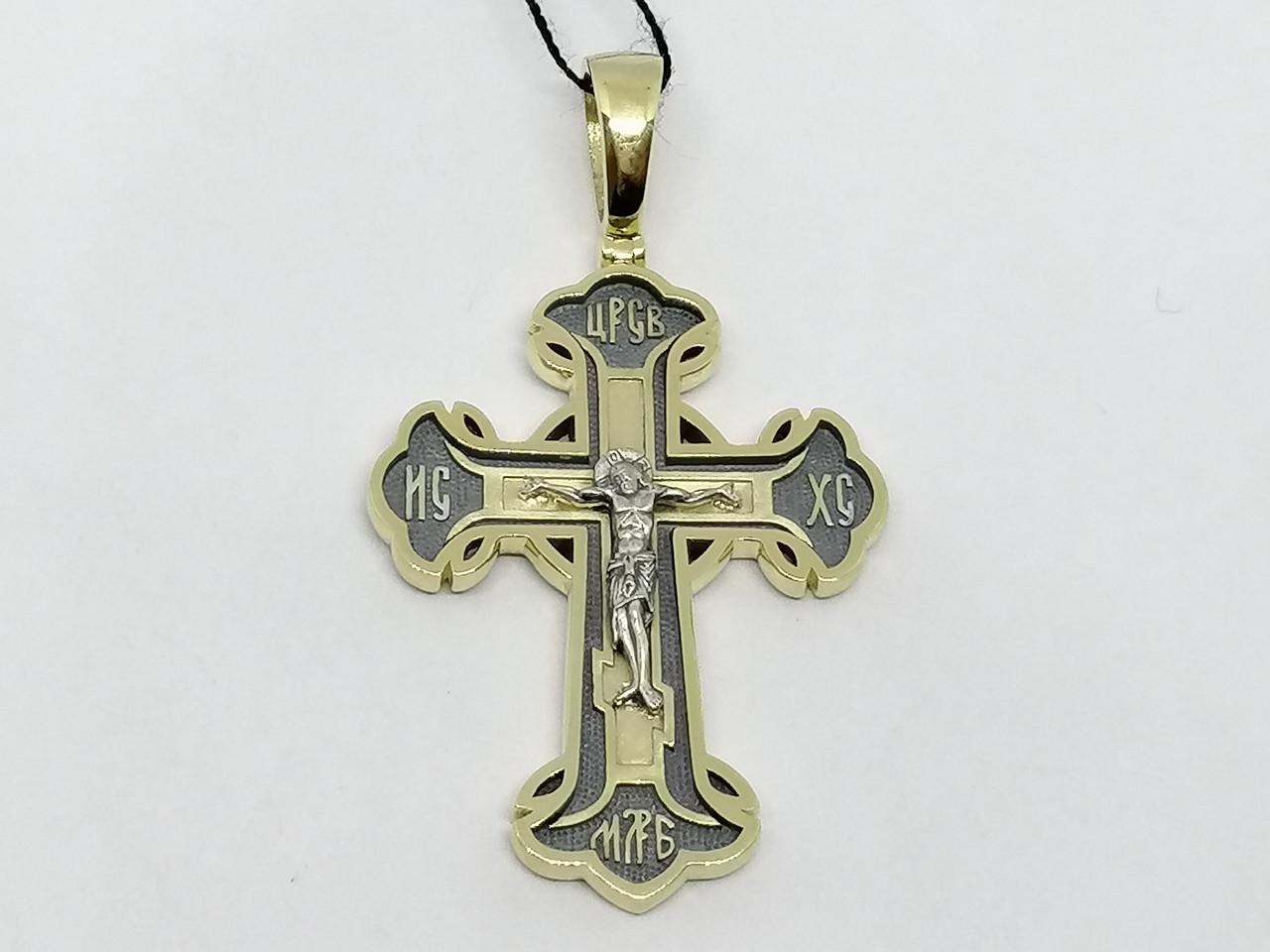 Золотой крестик. Распятие Христа. Артикул 11484-ЧЕВРО