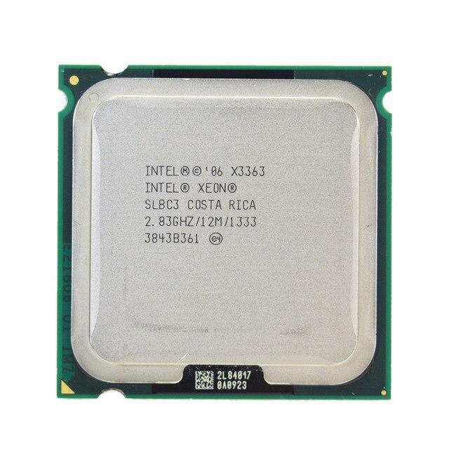 Процессор Intel Xeon X3363 4-ядра 2.83ghz SLBC3 E0 ( Q9550) для LGA775 + термопаста GD900