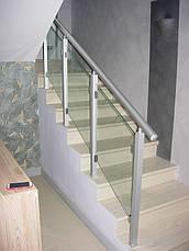Алюминиевые перила квадратные со стеклом, фото 3
