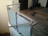 Алюминиевые перила квадратные со стеклом, фото 2