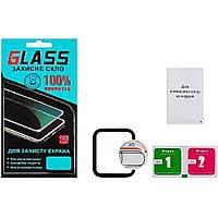 Защитное стекло для APPLE Watch 40mm (2018) (0.3 мм, 4D чёрное) Люкс