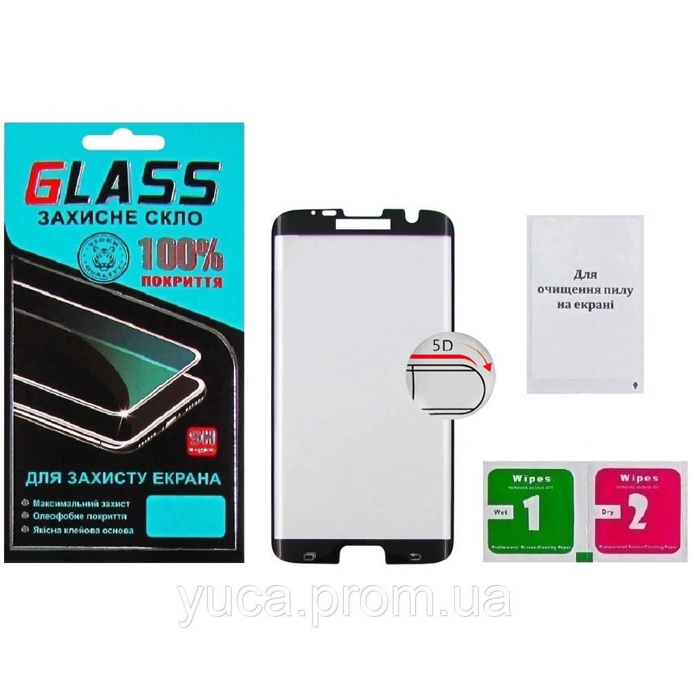 Защитное стекло для SAMSUNG G935 Galaxy S7 Edge (0.3 мм, 5D, чёрное) Люкс
