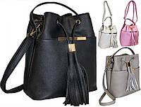 Черная стильная женская сумка вместительная пр. Польша на длинном ремешке FB133