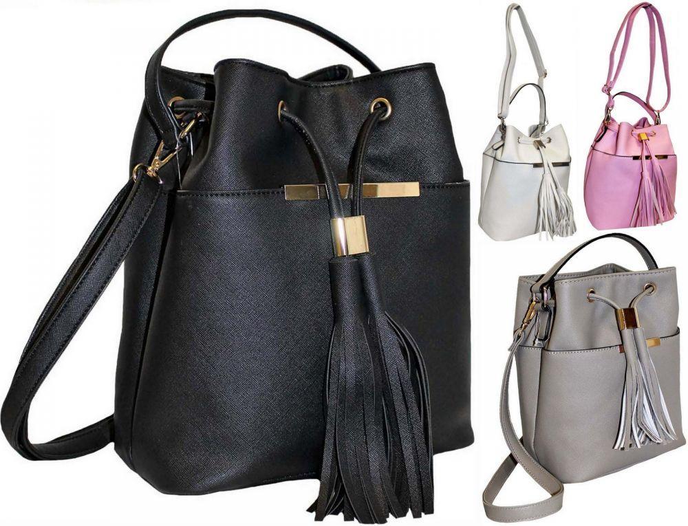 2c08b01c4783 Черная стильная женская сумка вместительная пр. Польша на длинном ремешке  FB133