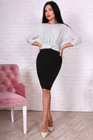 Платье женское полубатальное с люрексом приталенное