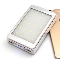Зарядное устройство на солнечной батарее Power Bank  50000mah+фонарик и лампа