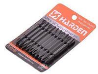 Набор двухсторонних отверточных бит PH2X65mm Harden Tools 550603