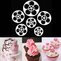 6шт сливы цветок fondant торт sugarcraft резца плесень 1TopShop, фото 2